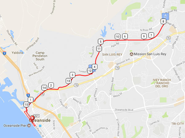 15 Mile Map