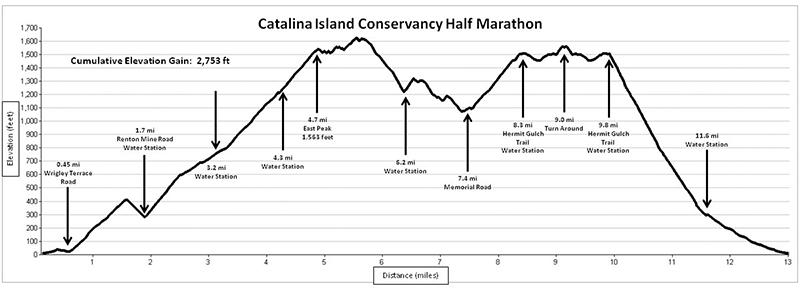 Eco-Marathon HalfMarathon Elevationprofile