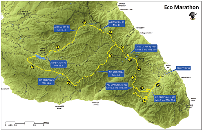 eco marathon course map